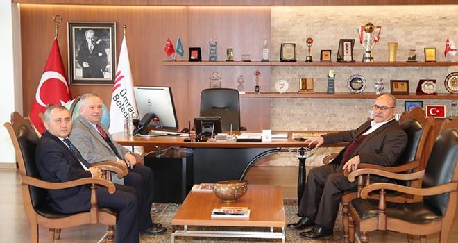 Türkiye Diyanet Vakfı Mütevelli Heyeti İkinci Başkanı İlyas Serenli'den Başkan Hasan Can'a Ziyaret