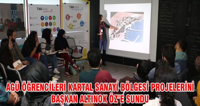 AGÜ ÖĞRENCİLERİ KARTAL SANAYİ BÖLGESİ PROJELERİNİ BAŞKAN ALTINOK ÖZ'E SUNDU