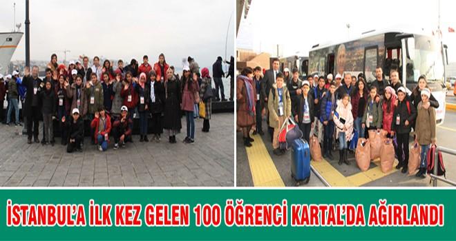 İstanbul'a İlk Kez Gelen 100 Öğrenci Kartal 'da Ağırlandı