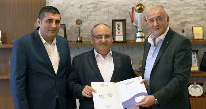 Giresun Sivil Toplum Kuruluşları Federasyonu Genel Başkanı Mehmet Kuğu'dan Başkan Hasan Can'a Ziyaret