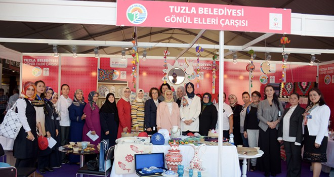 Tuzla Belediyesi Gönül Elleri Çarşısı, İhtiyaç Sahibi Kadınlarla Yerli ve Milli Üretime Katılıyor
