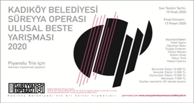 Süreyya Operası Ulusal Beste Yarışması 2020 Açıldı