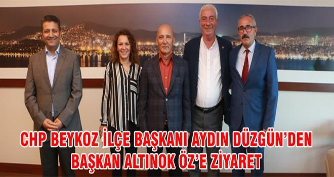 CHP Beykoz İlçe Başkanı Aydın Düzgün'den Başkan Altınok Öz'e Ziyaret
