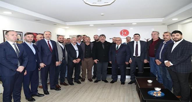Başkan Hasan Can'dan Milliyetçi Hareket Partisi Ümraniye İlçe Başkanı Adnan Çakır'a Ziyaret