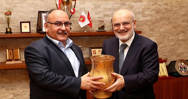 Beykoz Belediye Başkanı Yücel Çelikbilek'ten Başkan Hasan Can'a Ziyaret