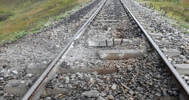 Bingölde Tren Geçişi Sırasında Patlama