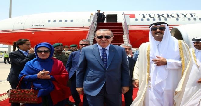 Cumhurbaşkanı Erdoğan Katarda
