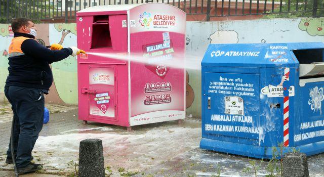Ataşehir'de geri dönüşüm atıkları yeniden toplanıyor
