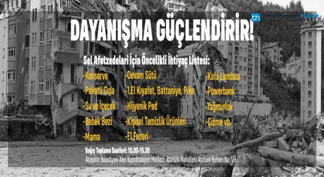Ataşehir'de Afetzedeler İçin Yardım Kampanyası