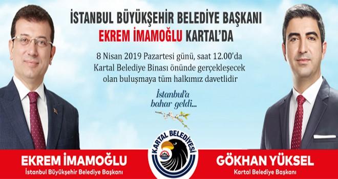 İstanbul Büyükşehir Belediye Başkanı Ekrem İmamoğlu Kartal'da