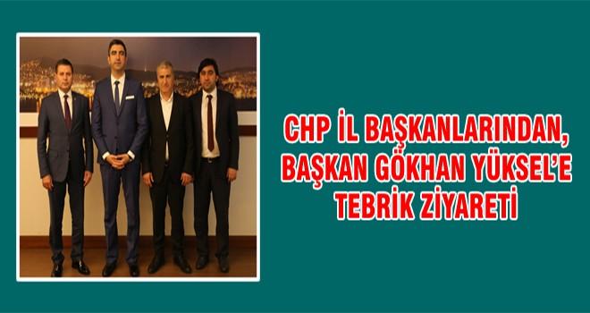 CHP İl Başkanlarından, Başkan Gökhan Yüksel'e Tebrik Ziyareti