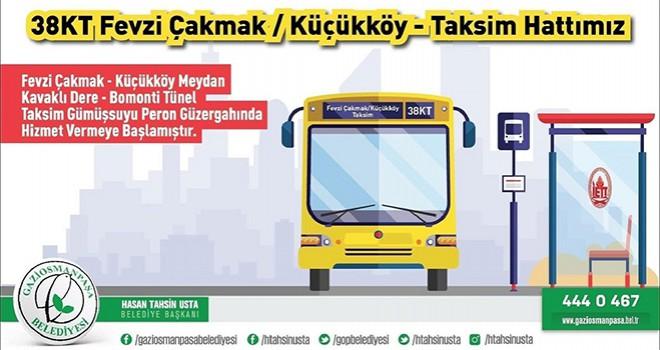 Fevzi Çakmak-Küçükköy-Taksim İETT Hattı Hizmete Girdi