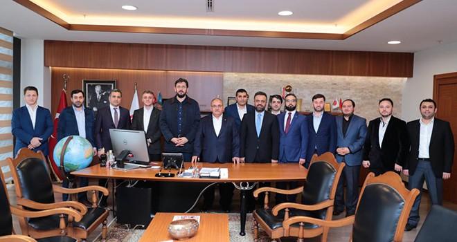 Ensar Vakfı Genel Başkanı İsmail Cenk Dilberoğlu ve Yönetim Kurulu Üyeleri'nden Başkan Hasan Can'a Ziyaret