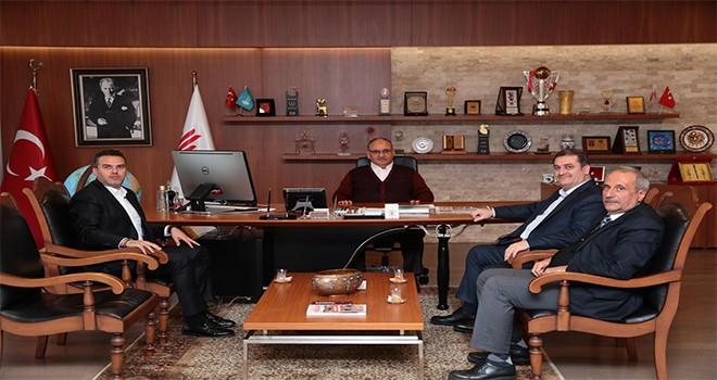 AK Parti Şişli İlçe Başkanı Ömer Fuat Günday Başkan Hasan Can'ı Ziyaret Etti