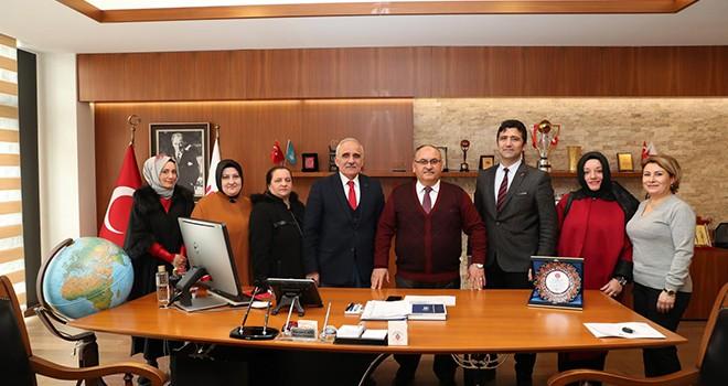 Ümraniye Merkez Anadolu Lisesi Müdürü ve Okul Aile Birliği Yönetimi'nden Başkan Hasan Can'a Ziyaret