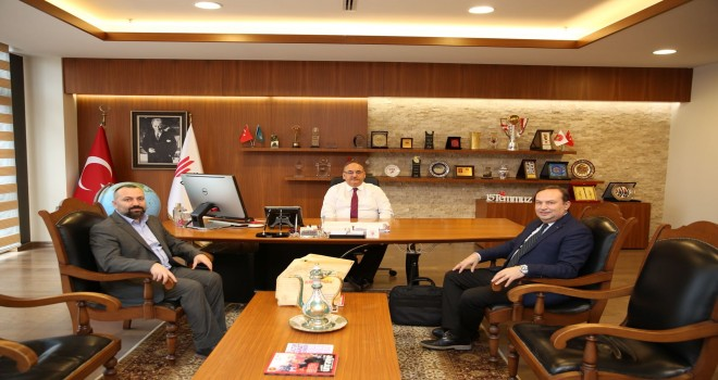 Rumeli TV Yönetim Kurulu Başkanı Tuncay Yılmaz'dan Başkan Hasan Can'a Ziyaret