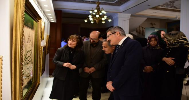 """muhabbet"" Tezhip Sergisi Açıldı"