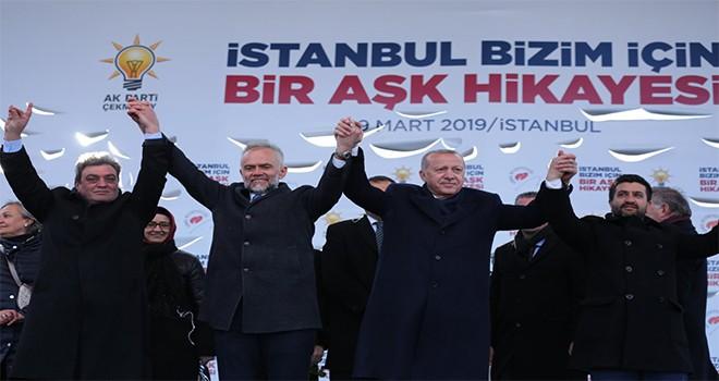 Cumhurbaşkanı Recep Tayyip Erdoğan Çekmeköy'de
