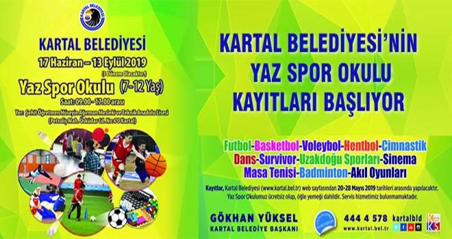 Kartal Belediyesi'nin Yaz Spor Okulu Kayıtları Başlıyor