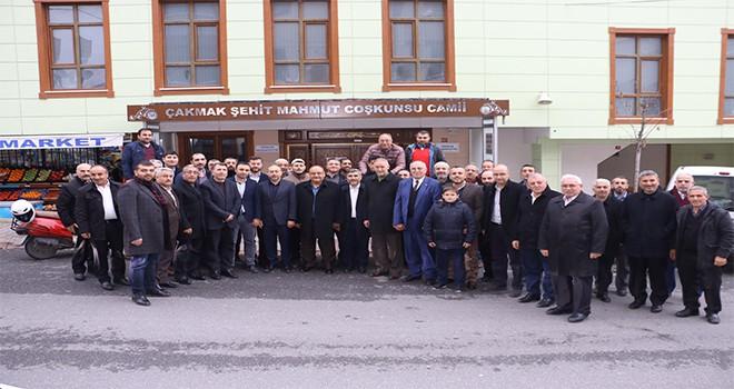 Başkan Hasan Can Sabah Namazı Buluşmalarında Şehit Mahmut Coşkunsu Camii Cemaatiyle Bir Araya Geldi