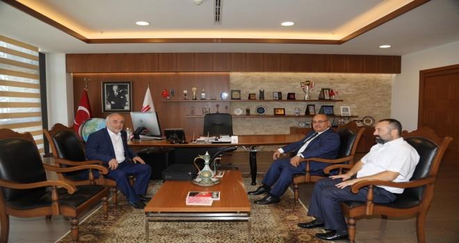 Iğdır Eski Valisi Ömer Türk'ten Başkan Hasan Can'a Ziyaret