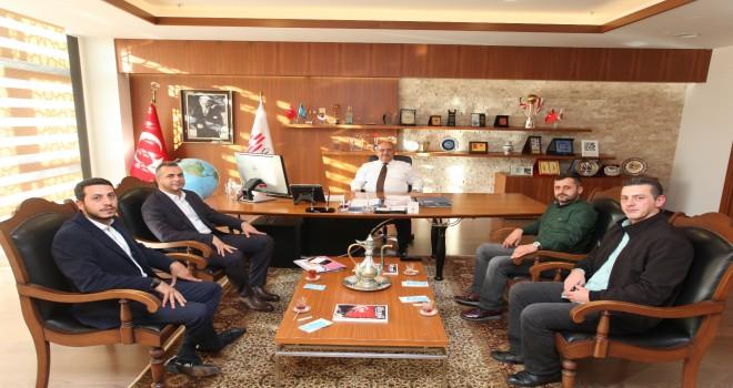 Başkan Hasan Can Mehmet Akif Mahalle Başkanı Kurtuluş Serkan Gürdal'ı Ağırladı