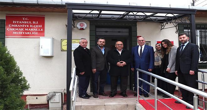 Başkan Hasan Can, Mahalle Muhtarları Ziyaretlerine Devam Ediyor