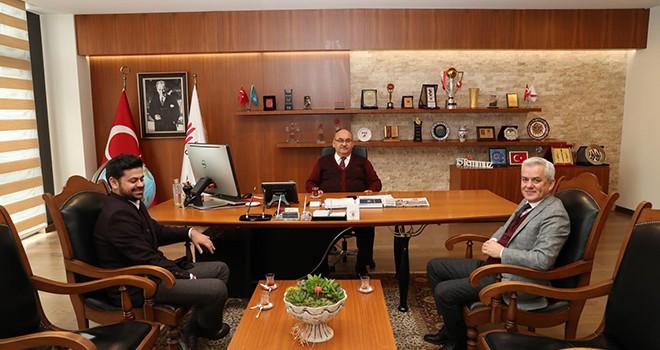 Körfez Eski Belediye Başkanı Yunus Pehlivan'dan Başkan Hasan Can'a Ziyaret