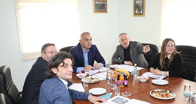 Başkan Aydın, Bakan Ersoy'a ESTAM'ı Anlattı