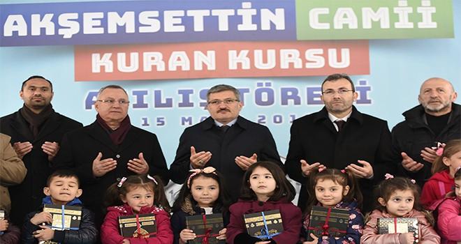 Akşemseddin Camii Kur'an Kursu Hizmete Girdi