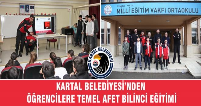 KARTAL BELEDİYESİ'NDEN ÖĞRENCİLERE TEMEL AFET BİLİNCİ EĞİTİMİ