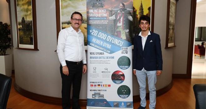 Genç girişimciden Başkan Kartoğlu'na ziyaret