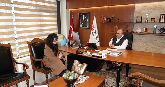 İstanbul Ticaret Odası İlkokul- Ortaokul Müdiresinden Başkan Hasan Can'a Ziyaret