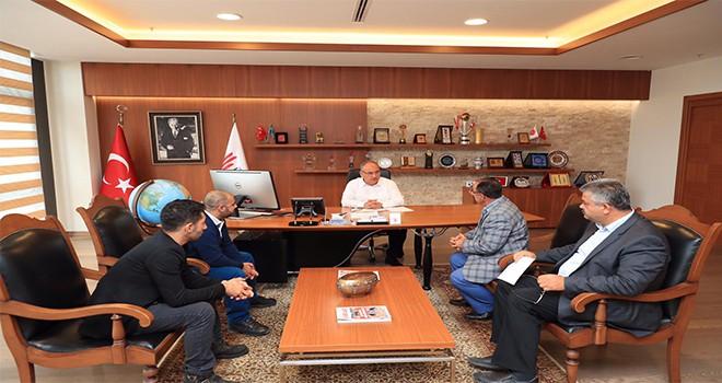 Şehit Nazmi Yıldızlı'nın Babasından Başkan Hasan Can'a Ziyaret