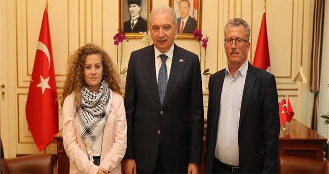 Ahed Tamimi Mevlüt Uysal'ı Ziyaret Etti