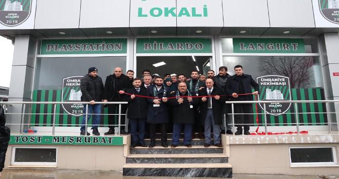 Hekimbaşı Spor Kulübü Tesisi Açılışı Başkan Hasan Can'ın Katılımıyla Gerçekleşti