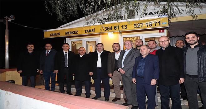 Başkan Hasan Can'dan Çakmak Mahallesi Çakmak Çamlık Taksi Durağına Ziyaret