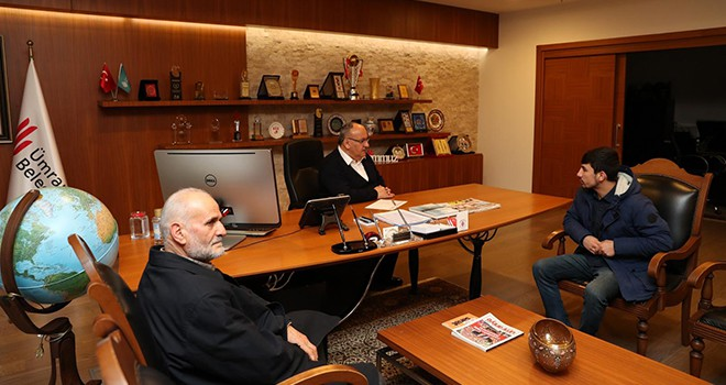 15 Temmuz Gazisi Uğur Taşyumruk'tan Başkan Hasan Can'a Ziyaret