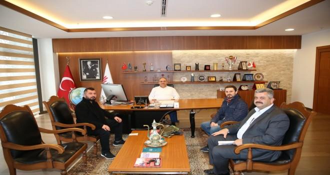 15 Temmuz Gazileri Halil İbrahim Kolcu ve Fatih Koca'dan Başkan Hasan Can'a Ziyaret