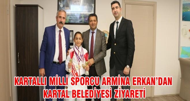KARTALLI MİLLİ SPORCU ARMİNA ERKAN'DAN KARTAL BELEDİYESİ ZİYARETİ