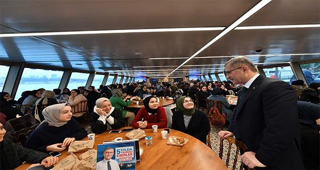 Çamlıca Kız Anadolu İmam Hatip Lisesi Valide Sultan Gemisi'nde