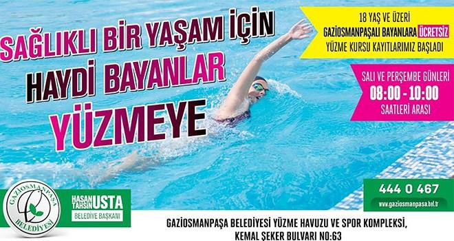Sağlıklı Bir Yaşam İçin Haydi Bayanlar Yüzmeye