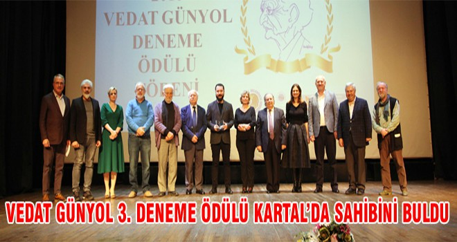 Vedat Günyol 3. Deneme Ödülü Kartal'da Sahibini Buldu