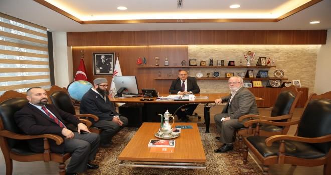 Abdurrahman Çelik Camii İmamı Ahmet Faruk Özdemir ve Cami Derneği Başkanı Ramazan Demirdelen'den Başkan Hasan Can'a Ziyaret