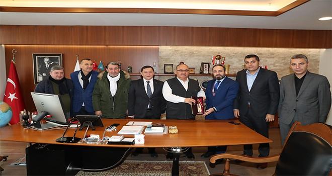 Giresun Görele Federasyonu'ndan Başkan Hasan Can'a Ziyaret