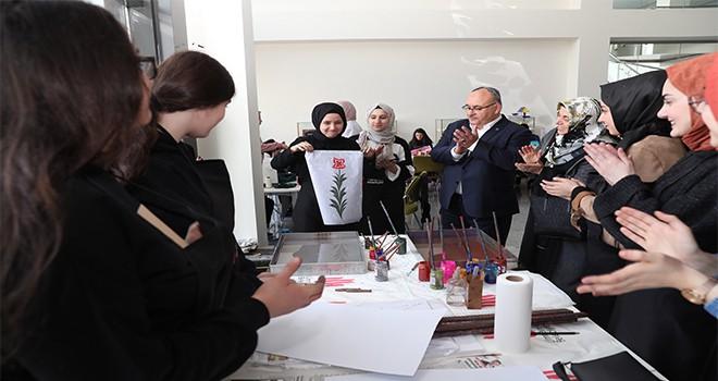 Başkan Hasan Can, Gençlere Yönelik Meslek Edindirme Kursları'nda Eğitim Alan Öğrencilerle Bir Araya Geldi