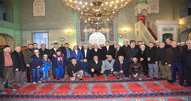 Başkan Hasan Can, Sabah Namazı Buluşmalarında Son Durak Camii Cemaatiyle Bir Araya Geldi