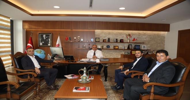 Yamanevler Mahalle Başkanı Emin Temiz'den Başkan Hasan Can'a Ziyaret