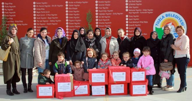 Tuzla Belediyesi Anne Çocuk Eğitim Merkezi, Kardeş Kütüphanelere Kitap Bağışında Bulundu