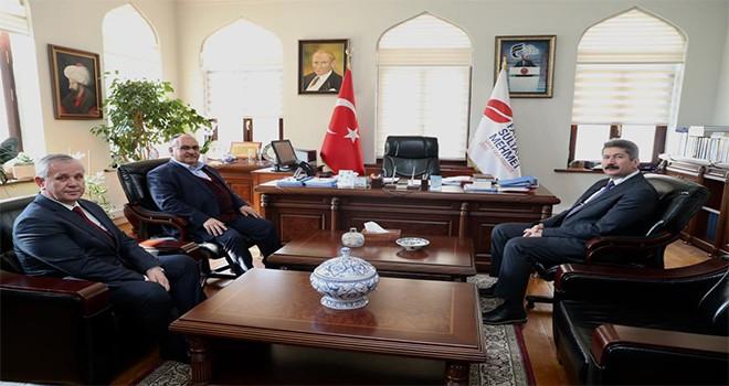Başkan Hasan Can'dan Fatih Sultan Mehmet Vakıf Üniversitesi Rektörü Prof. Dr. Muhammed Fatih Andı'ya Ziyaret